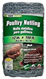 G & B 308418A 12-Inch x 150-Foot 1-Inch Galvanized Mesh Poultry Netting