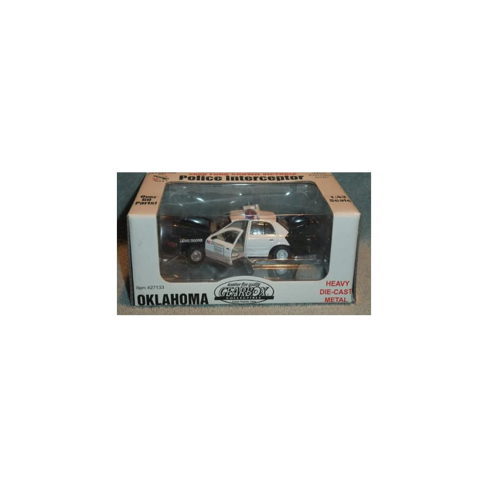 GEARBOX COLLECTIBLE 143 MINT PRECISION SERIES OKLAHOMA HIGHWAY PATROL 2000 FORD CROWN VICTORIA POLICE INTERCEPTOR DIE CAST