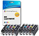 10 (2 SETS) Compatible PGI-5 CLI-8 Ink Cartridges for Canon Pixma MP500 MP530 MP600 MP600R MP610 MP800 MP800R MP810 MP830 MP950 MP960 MP970 iP4200 iP4300 iP4500 iP5200 iP5200R iP5300 - High Capacity