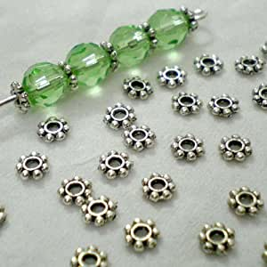 BSI - Antique Silver Daisy Spacer Metal Beads ~ Jewelry-makings (4mm 200pcs)