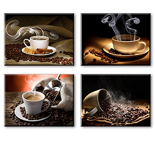 artisweet-canvas-prints-picture-sensations-framed-waterproof-4-panel-l-hot-coffee-coffee-beans-canva