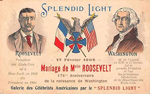 Splendid Light Roosevelt Wedding Washington Patriotic Vintage Postcard AA1918