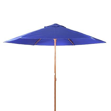 8 Feet Portable Vented Heavy Duty Beach/Patio Umbrella UPF 50+ Deep Blue  color - Amazon.com : 8 Feet Portable Vented Heavy Duty Beach/Patio Umbrella