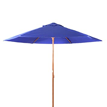 95e004585193 8 Feet Portable Vented Heavy Duty Beach/Patio Umbrella UPF 50+ Deep Blue  color
