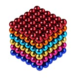 #8: Weirui Magnetic Cube 216pcs Rolytoy Magnets Blocks Magnetic Sculpture Holders Square Cube Children's Puzzle Magic Cubes DIY Educational Toys for Kids (Colorful, 5mm)