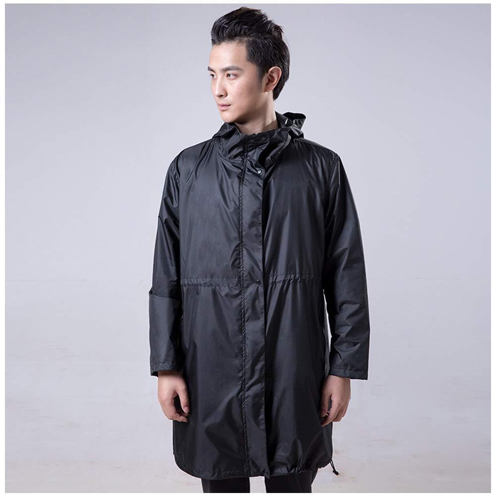 Geyao Trolley Tram Regenmantel Radfahren Anzug Männer Einzelne Wasserdichte Motorrad Reiten Regenbekleidung Regenmantel Schwarz