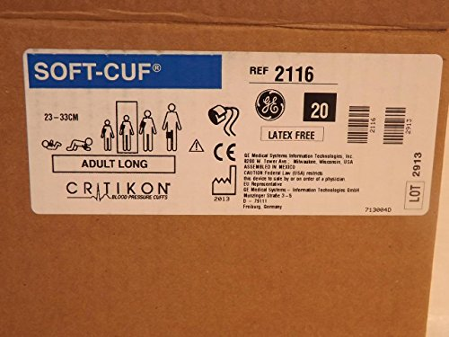 GE Healthcare 2116 Critikon Soft-Cuf Blood Pressure Cuf, 2-Tube Submin Connector, Adult Long, Navy by GE (Image #4)