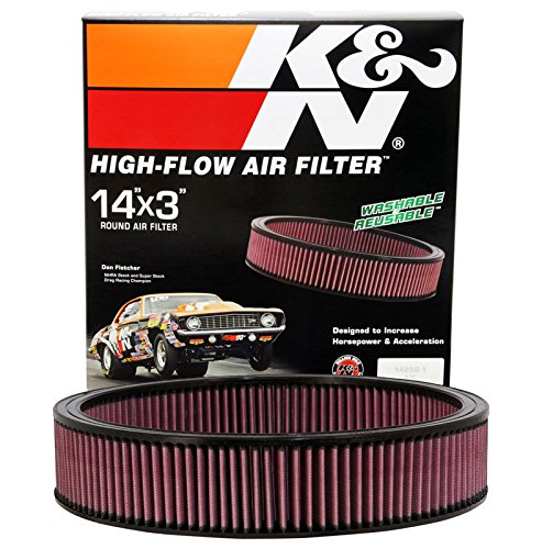"K&N E-1650 High Performance Replacement Air Filter 14"" Round 3"" Height"