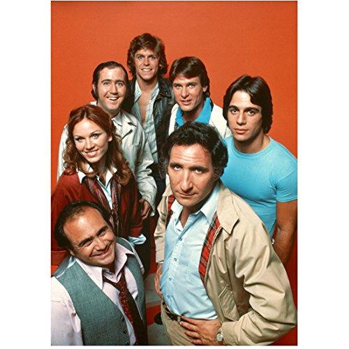 Taxi Cast (Judd Hirsch 8 Inch x10 Inch Photograph Taxi (TV Series 1978 - 1983) w/Cast Orange Background kn)