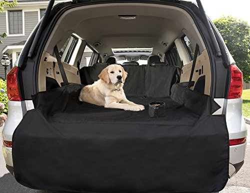 The Original GRIP MASTER Non-Slip Heavy-Duty Pet Cargo Protector for Pets (Waterproof, Flexible Zippers, 3 Straps to Secure Cover, Bumper Protector)