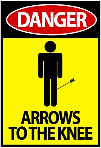 Danger - Arrows To The Knee Video Game Poster 13 x 19in