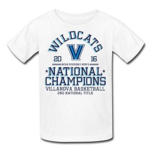 Price comparison product image Youth Villanova Wildcats 2016 Basketball National Champions T-Shirt - White