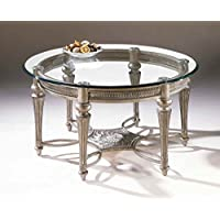 37506 Galloway Collection Round Cocktail Table with Glass Top