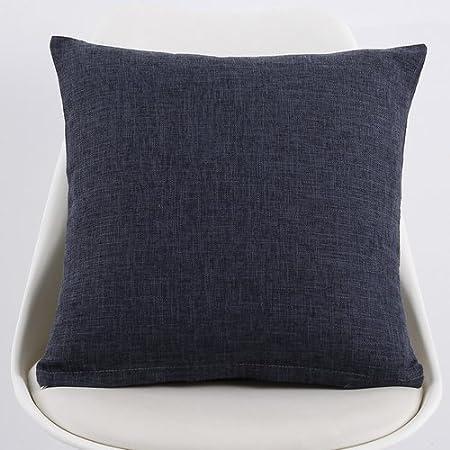 POPRY Almohada de Puro Lino Grueso Gran Sofá Tela de algodón con Cintura Coche Back Office,45x45cm - P: Amazon.es: Hogar