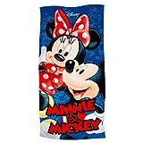 Disney Mickey Minnie Hug Beach Towel 28x58