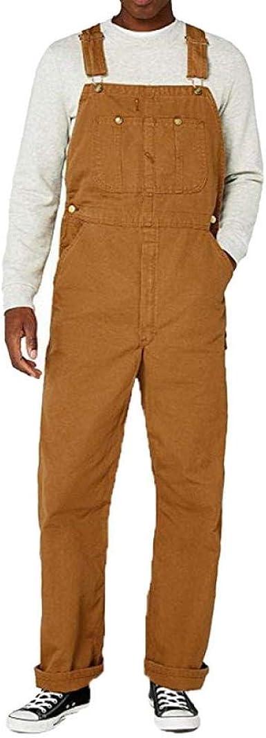 Tyjyb Monos De Bolsillo Holgados Informales Para Hombre Monos De Mezclilla Comodos Pantalones Con Pechera Pantalones Vaqueros De Gran Tamano Para Hombre Khaki Xl Amazon Es Ropa Y Accesorios