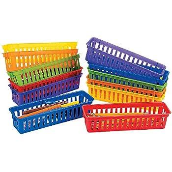 Amazon Com Classroom Pencil Amp Marker Baskets 12 Pc