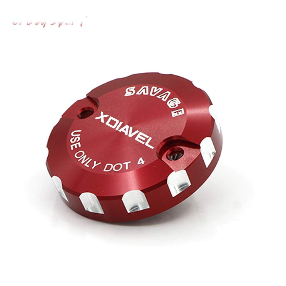 crazy sport Rear Brake Reservoir Cover For Ducati X Diavel XDiavel 2016 2017 2018 Motocycle Accessories Oil Fluid Cap CNC Aluminum Red