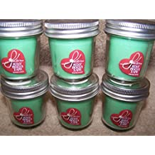 Lot of 6 Bath & Body Works White Barn Mint Mocha Bark Scented Mini Candle Jar with Lid 1.3 Oz Each (Scented)