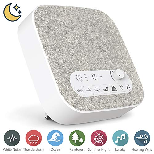 White Noise Machine for Sleeping, Aurola Sleep Sound Machine with Non-Looping Soothing Sounds for Baby Adult Traveler, Portable for Home Office Travel  ()