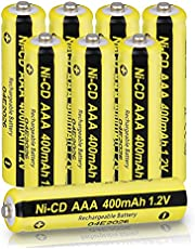 AAA Battery 1.2V 400mAh Nicd AAA Rechargeable Battery for Garden Solar Light Lawn Lights 8 Pack