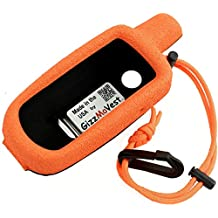 Garmin 64 GPSMAP 64sc, 64stc CASE COVER made by GizzMoVest LLC in 'Premium Orange'. High-tech Composite Molded Protection includes Metal Belt Clip, Wrist Lanyard-Clip. MADE IN THE USA