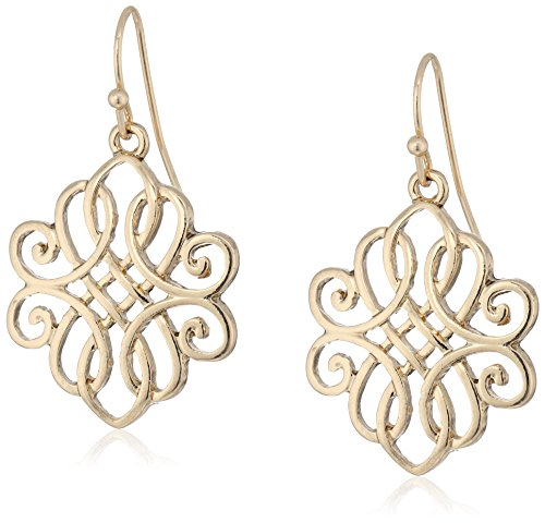 1928 Jewelry Gold-Tone Filigree Drop Earrings -