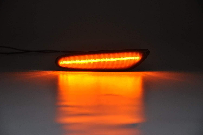 Lot de 2 clignotants LED dynamiques lat/éraux de rechange E36 E46 E53 E60 E83 E84 E90 E91 E92 E93 X1 X3 X5 E4 MOT T/ÜV ITV