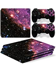 Mcbazel Pattern Series Vinyl Skin Sticker For PS4 Pro Controller & Console Protect Cover Decal Skin (Galaxy)