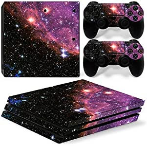Mcbazel Vinyl Decal Protective Skin Cover Sticker for PS4 Pro Console & Controller - Galaxy