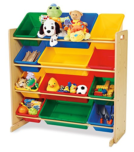 Tot Tutors Kids' Toy Organizer With Storage Bins, Primary Colors