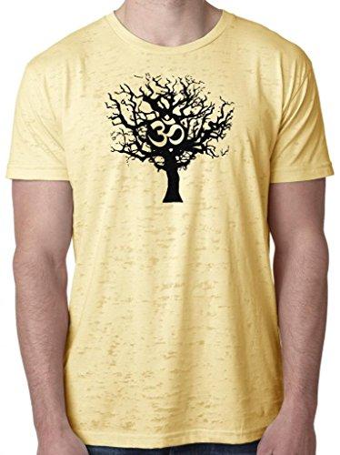 Mens Tree of Life Lightweight Burnout Tee Shirt