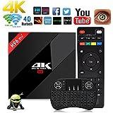Aoxun 4K TV Box Android 7.1 3G+32G with changing keyboard Scatola intelligente H96 Pro+ Plus CPU Amlogic S912 Octa-core 64 bit con una tastiera wireless wifi set-top box Bluetooth 4.1 e True 4K Playing 4K Playing