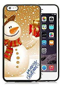 2014 New Style iPhone 6 Plus Case,Christmas snowman Black iPhone 6 Plus 5.5 TPU Case 20 Kimberly Kurzendoerfer