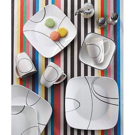 Corelle Squares Simple Lines 16-Piece Dinnerware (Square Simple Lines 16 Piece)