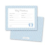 MyExpression.com 48 Cnt Blue Baby Feet Footprint Baby Shower Prediction Cards