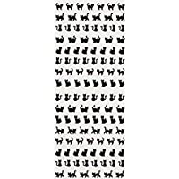 [DECO FAIRY] Black Cat Kitty Kitten in Different Poses Stickers (106 Stickers)