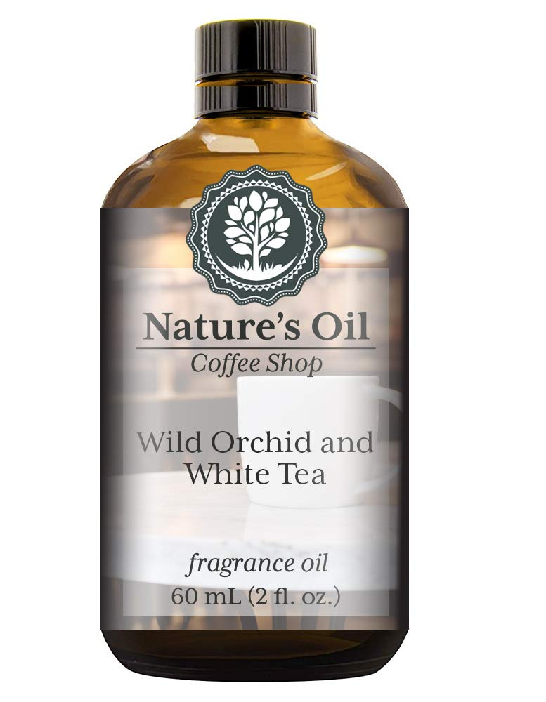 Wild Orchid and White Tea Fragrance Oil (60ml) For Diffusers, Soap Making, Candles, Lotion, Home Scents, Linen Spray, Bath Bombs, Slime
