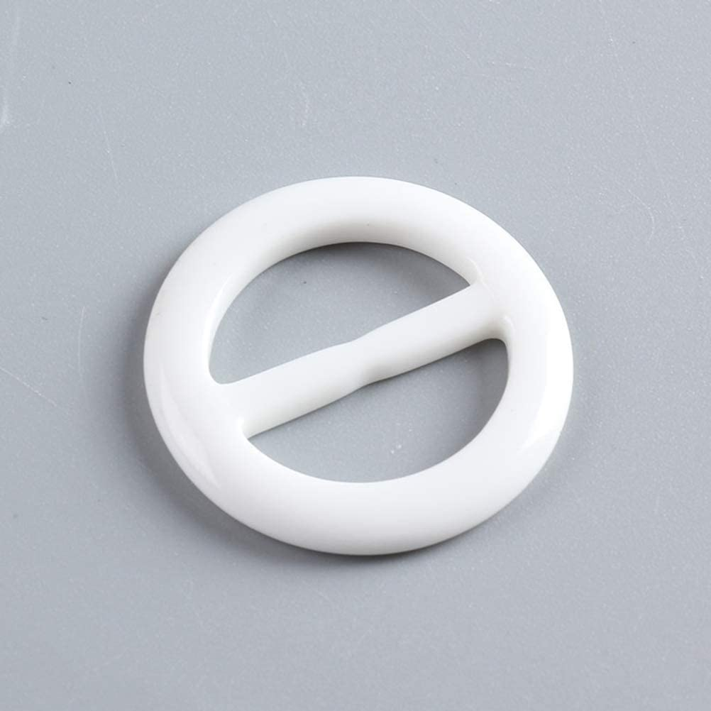 Diameter 5cm//2inch 6PCS Plastic Smoothly Round Circle Scarf Clip tie Ring Windbreaker Buckle Holder for Women Lady Girls Clothing T-shirt Color Random Size