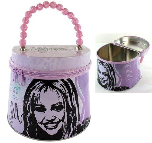 Hannah Montana Tin Box - Purple Hannah Montana Zip Up Tin Box - Hannah Montana Tin Box