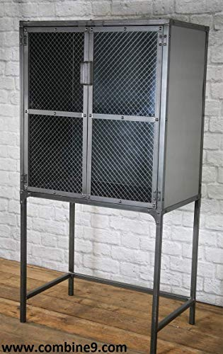 Modern Industrial Apothecary Cabinet, Medicine Cabinet, Rustic Pantry, Retail Fixture, Display Case