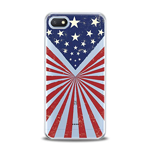 Lex Altern TPU Case for Xiaomi Mi 9 A2 A1 Note 3 8 SE Mix 2s 5X 6X 8X American Flag Clear Cover Slim Fit Lightweight USA Print Lines Soft Design Stars Gift Flexible Independence Man Smooth Patriot (Xiaomi Mi Note 2 Price In Usa)