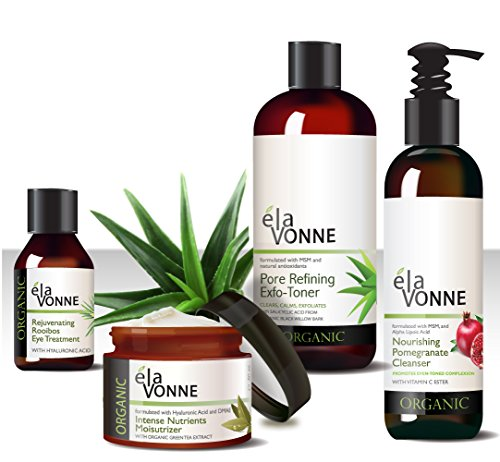 Elavonne Organic Essentials Skin Care Kit (Full Sized Products)