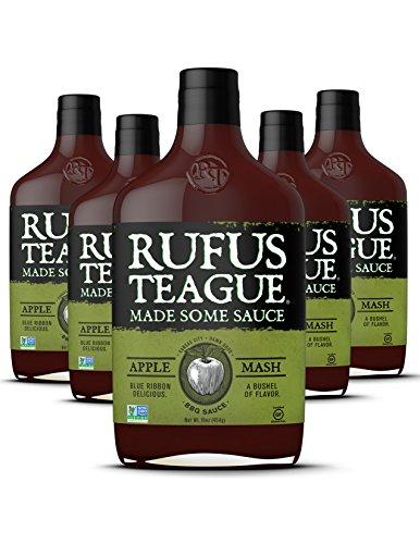 Rufus Teague- Smoky Apple BBQ Sauce 6 Bottles of Sweet Rich
