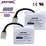 NASTIMA Lithium-Ion Battery 4100mAh for Neato XV-11 XV-12 XV-14 XV-15 XV-21 XV-25, XV Essential, XV Signature Pro Robotic Vacuum Cleaner, 1000 cycle times[ Premium Cells with UL&CE approval]
