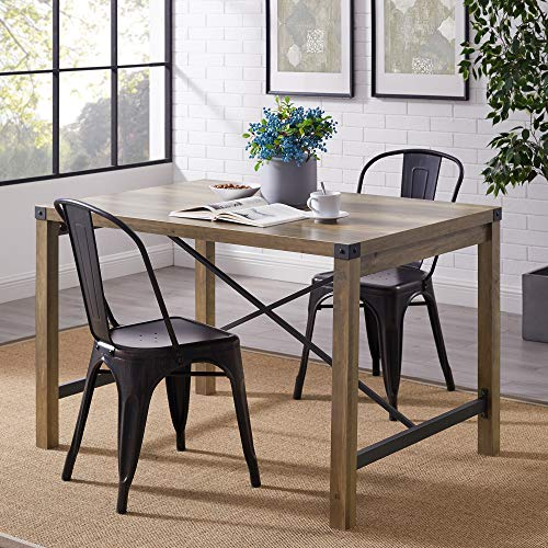 WE Furniture Dining Table, 48 , Rustic Oak