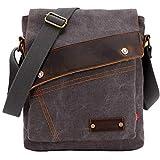 Sechunk Messenger bags, Vintage Small Canvas Shoulder Crossbody Purse (Grey)