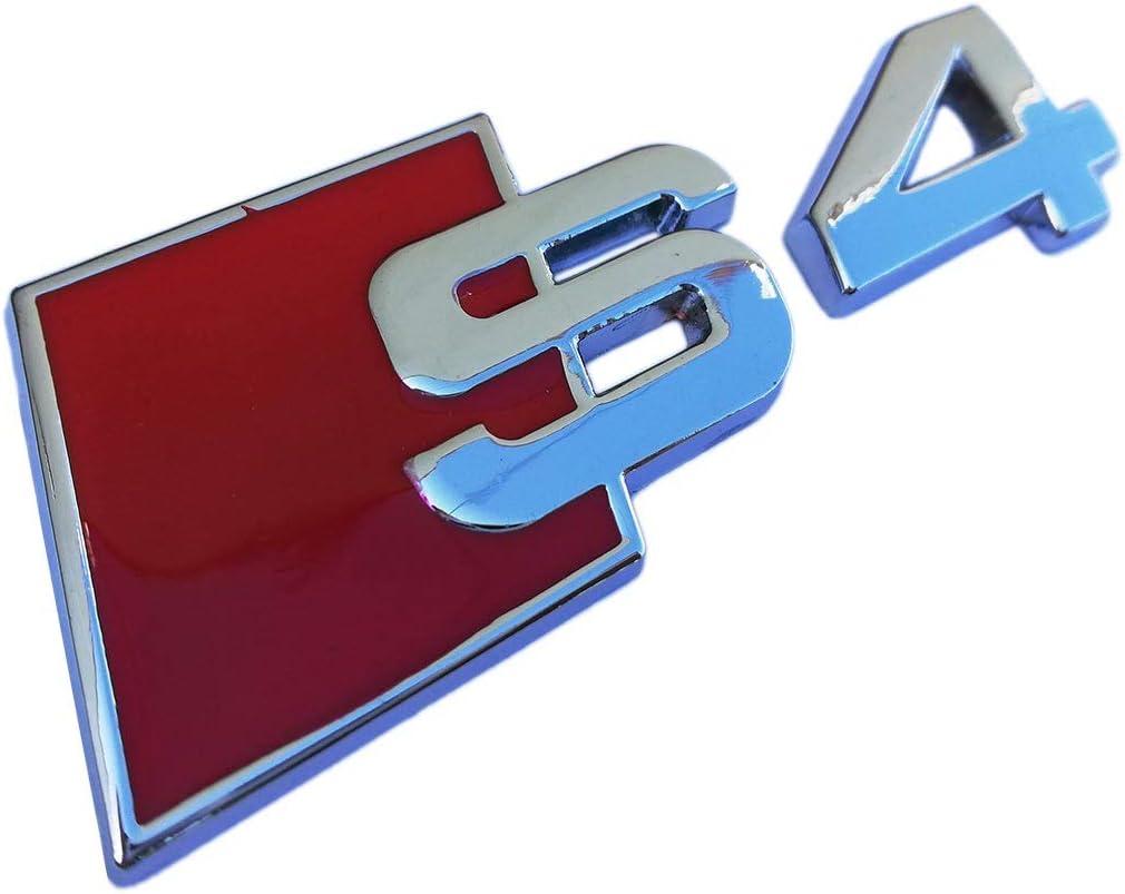 Cosmoparts Logo Emblema Compatible con Audi S4 Metálico Cromado: Amazon.es: Coche y moto