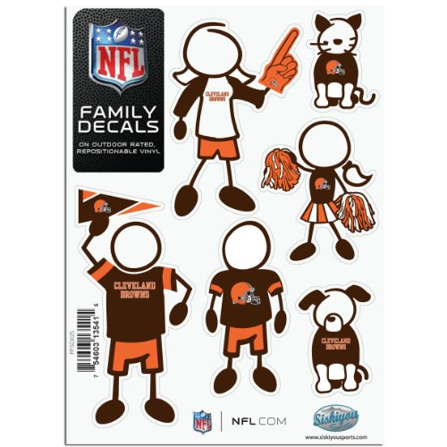 NFL Cleveland Browns Small Family Decal Set