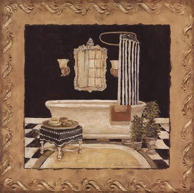 Maison Bath II by Charlene Winter Olson - 12x12 Inches - Art Print ()